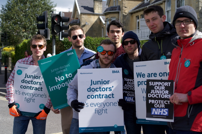 Junior doctors at the RUH were buoyed by plenty of local support for their campaign.