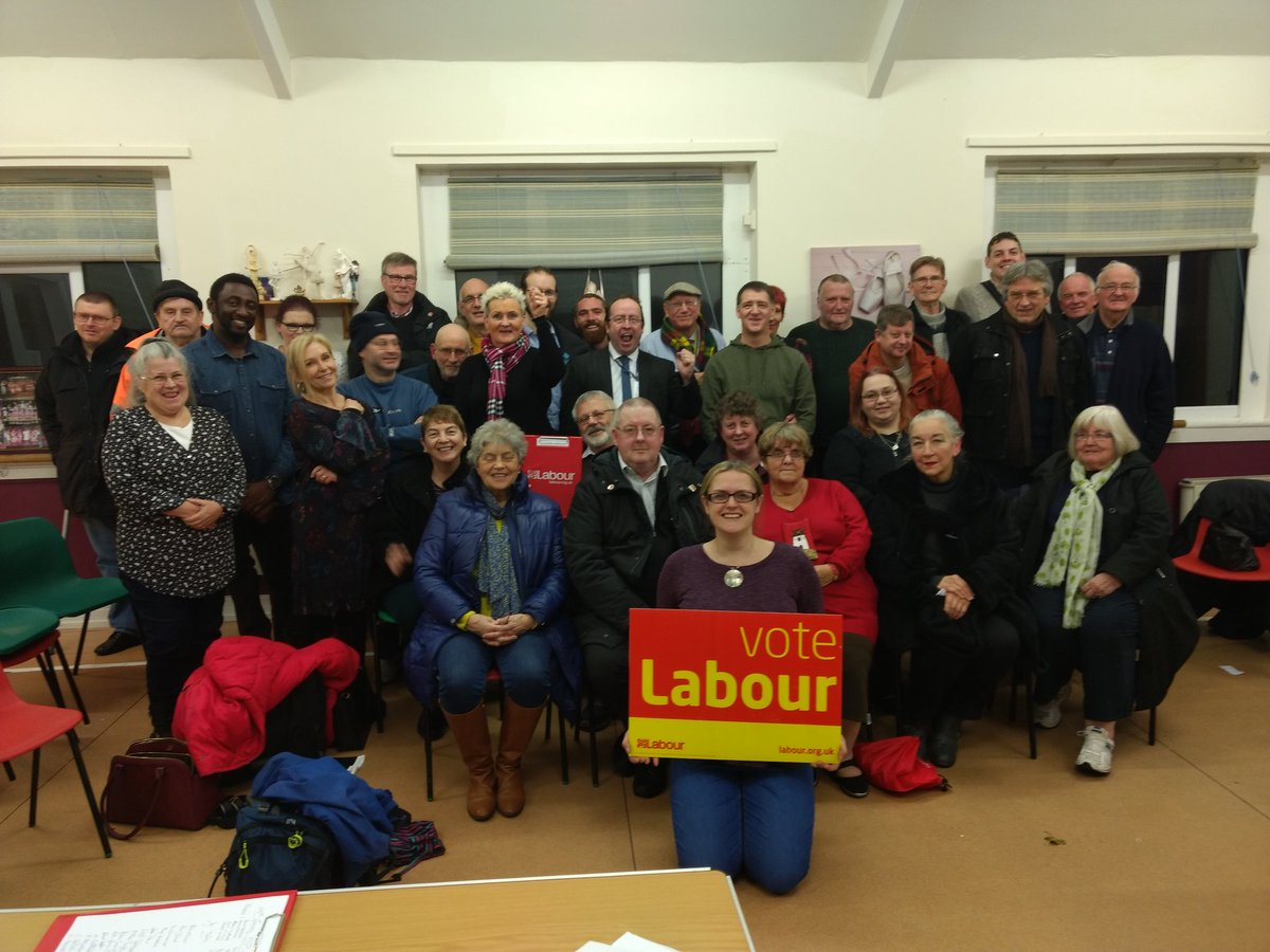Our newly elected PPC, Lizzi Collinge with the members attending the CLP Meeting on Thursday.