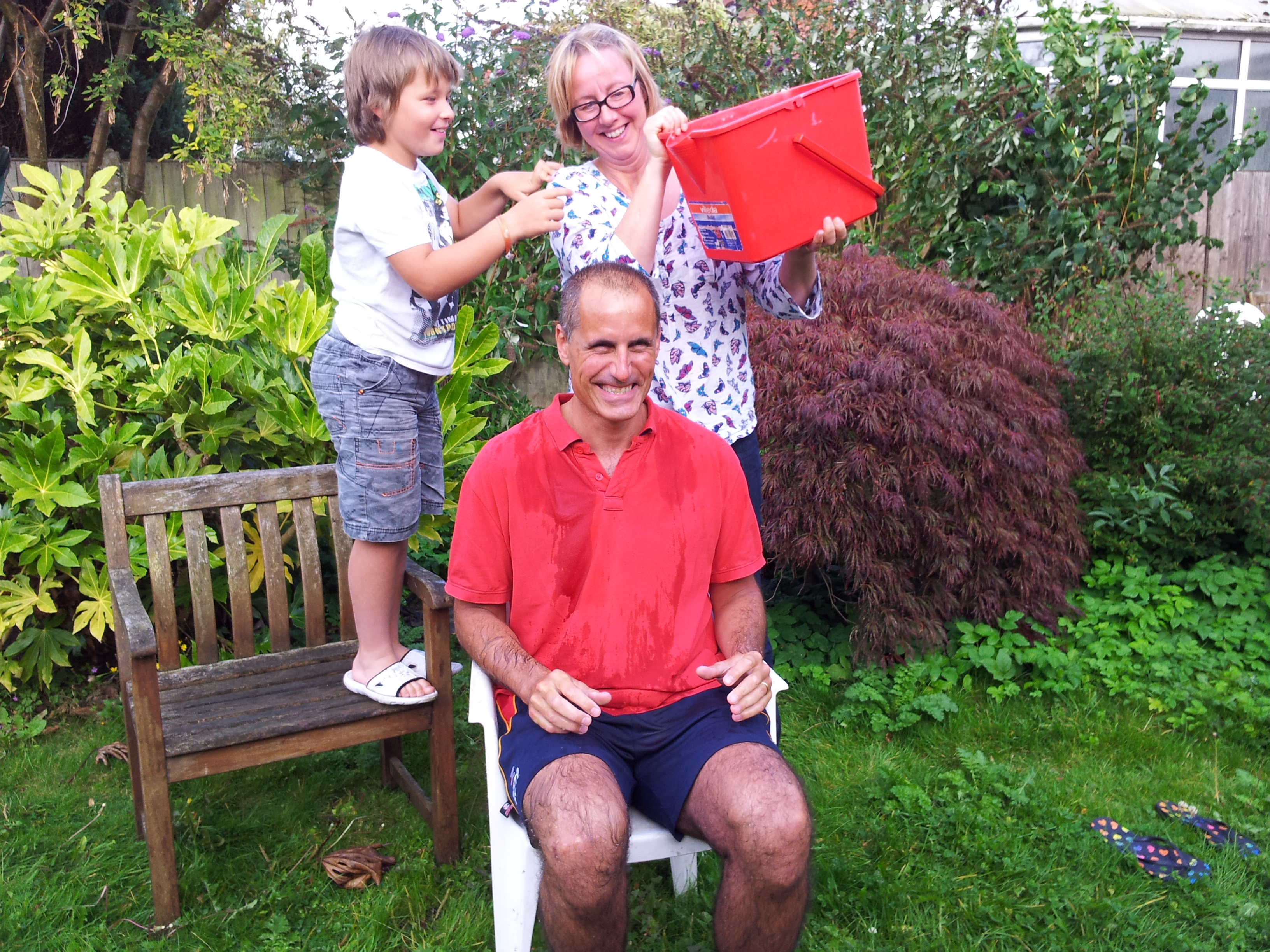 Sefton Central Labour MP Bill Esterson gets an icy soaking as he takes part in the Ice Bucket Challenge in aid of the Motor Neurone Disease Association.