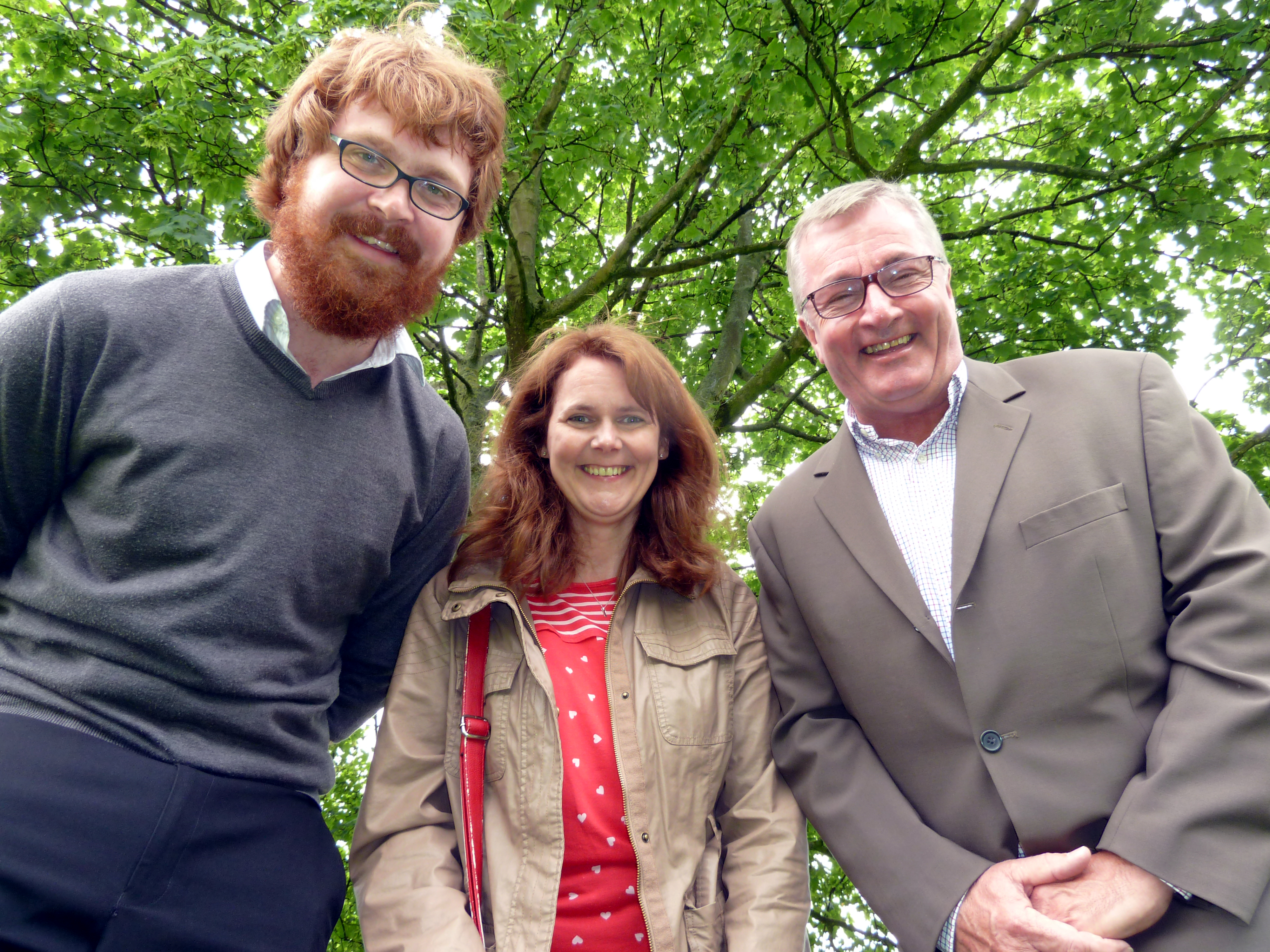 Maghull Labour councillors Rob Owens, Lynn Gatherer and Patrick McKinley are working on plans to roll out the new trees over the next three years.