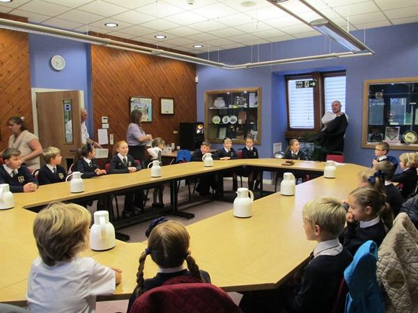 Labour councillor Dave Jones gave the youngsters from St Andrew's a talk on the role of a councillor and a tour of the council chamber.