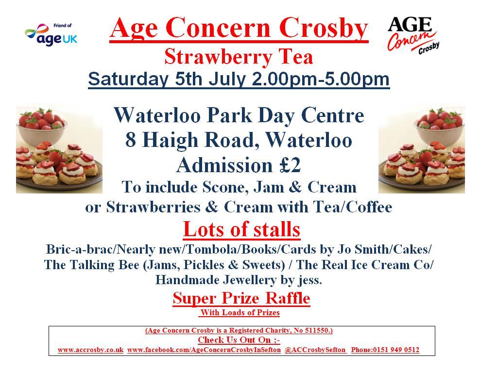 Age Concern Crosby Strawberry Tea