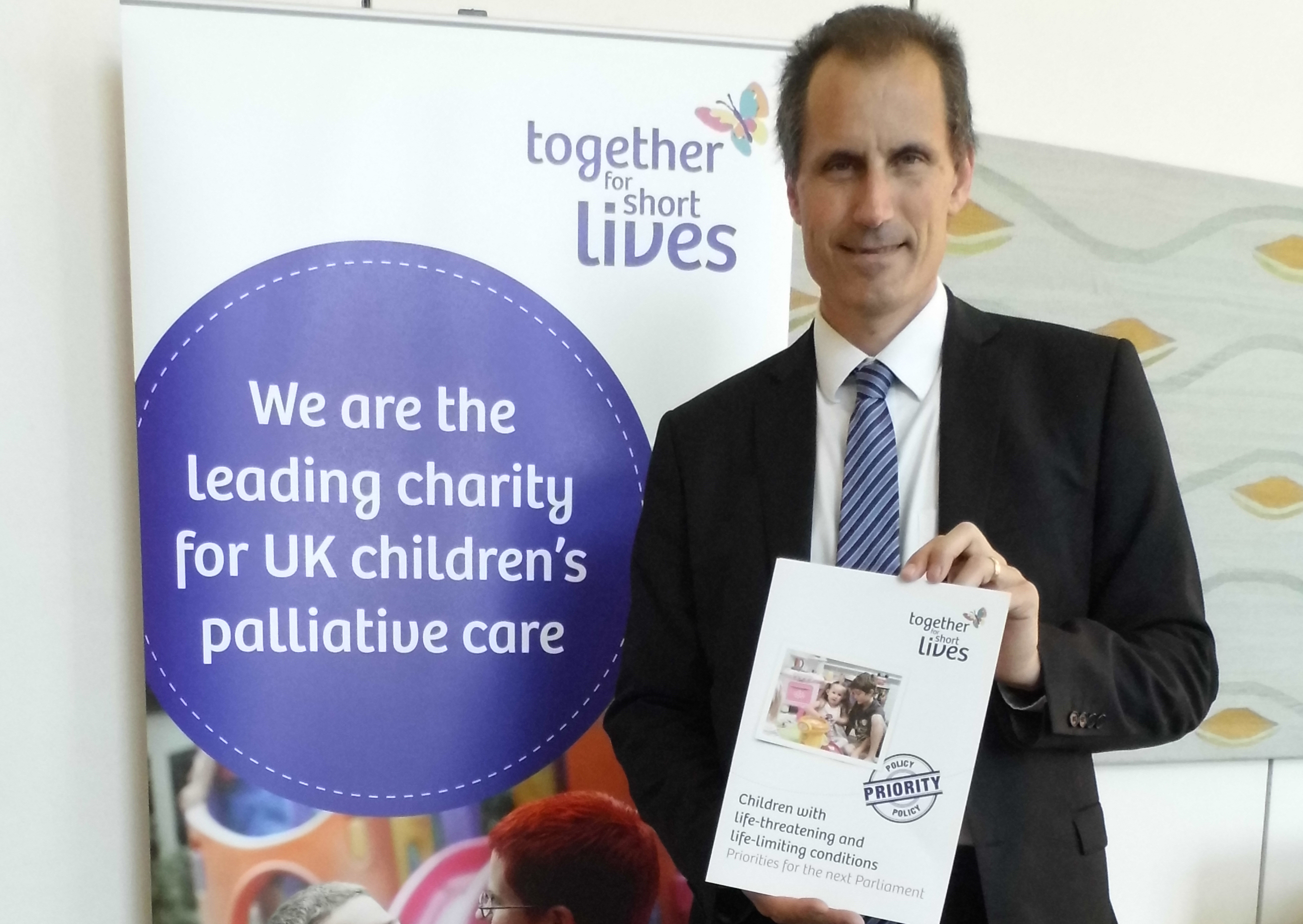 Labour MP Bill Esterson backs the Together for Short Lives campaign in Westminster.