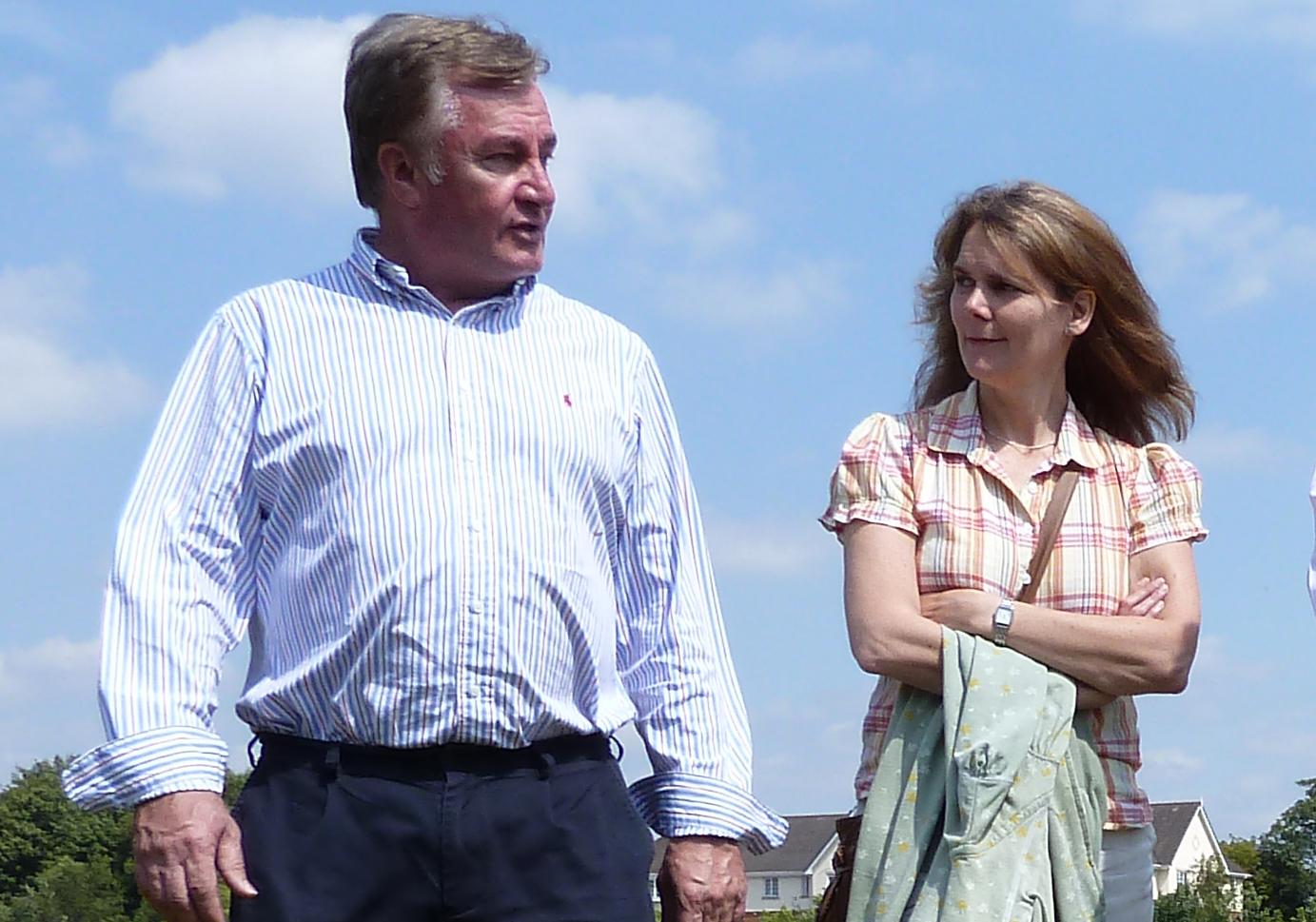 Patrick McKinley and Lynn Gatherer