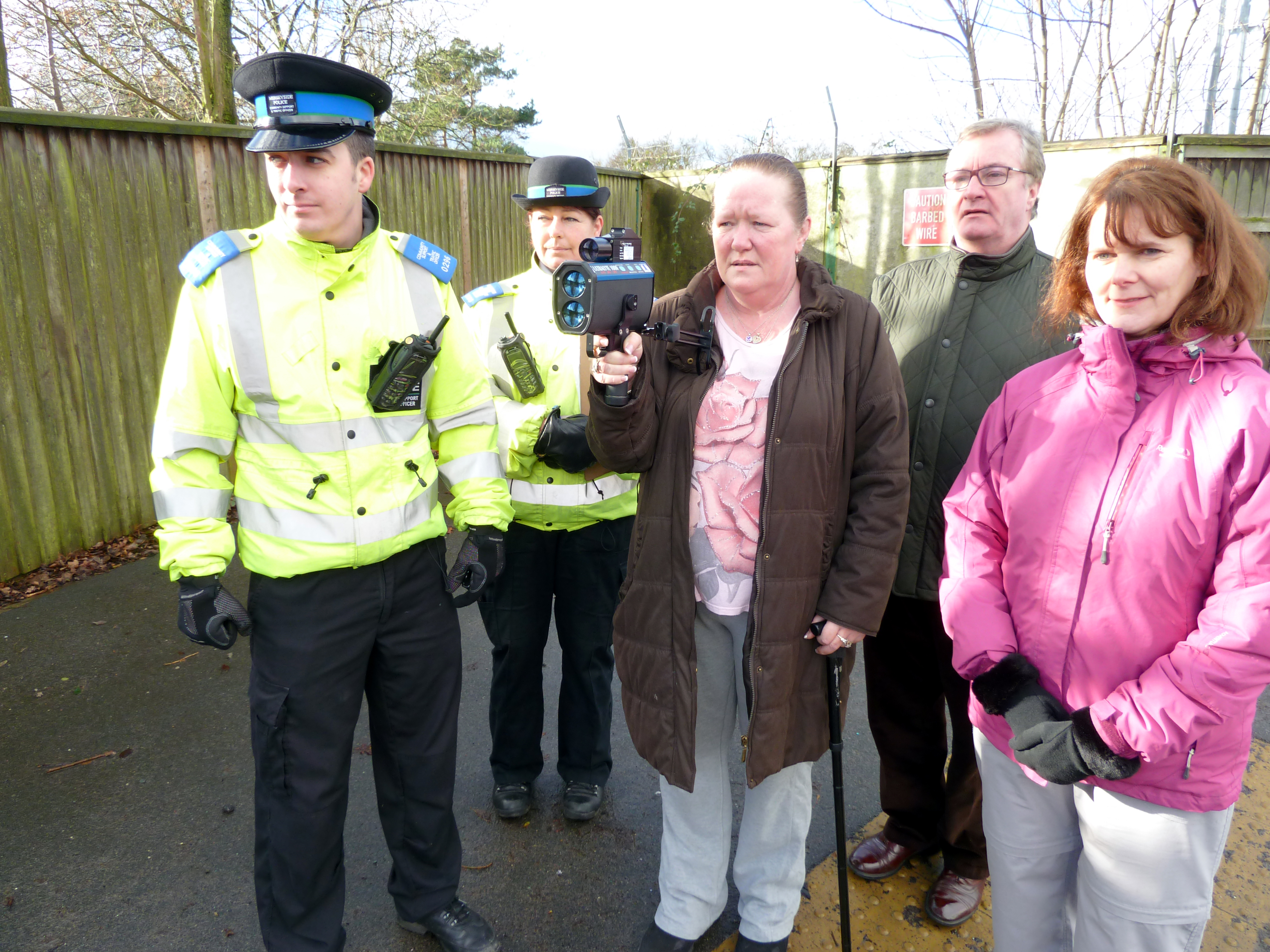 Patrick McKinley and Lynn Gatherer join the Speedwatch patrol