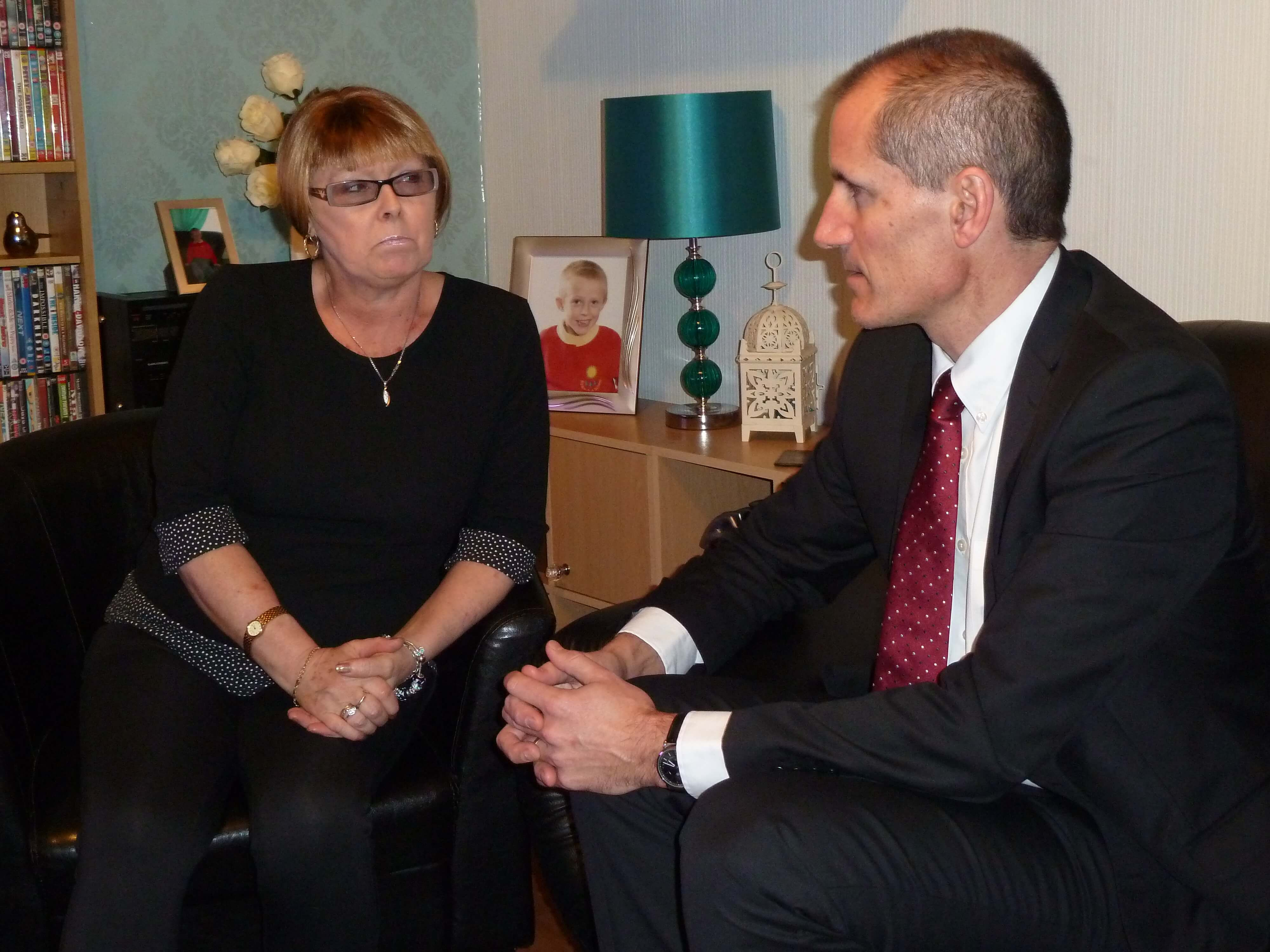 Sefton Central Labour MP Bill Esterson with 59-year-old grandmother Lynne Taylor.