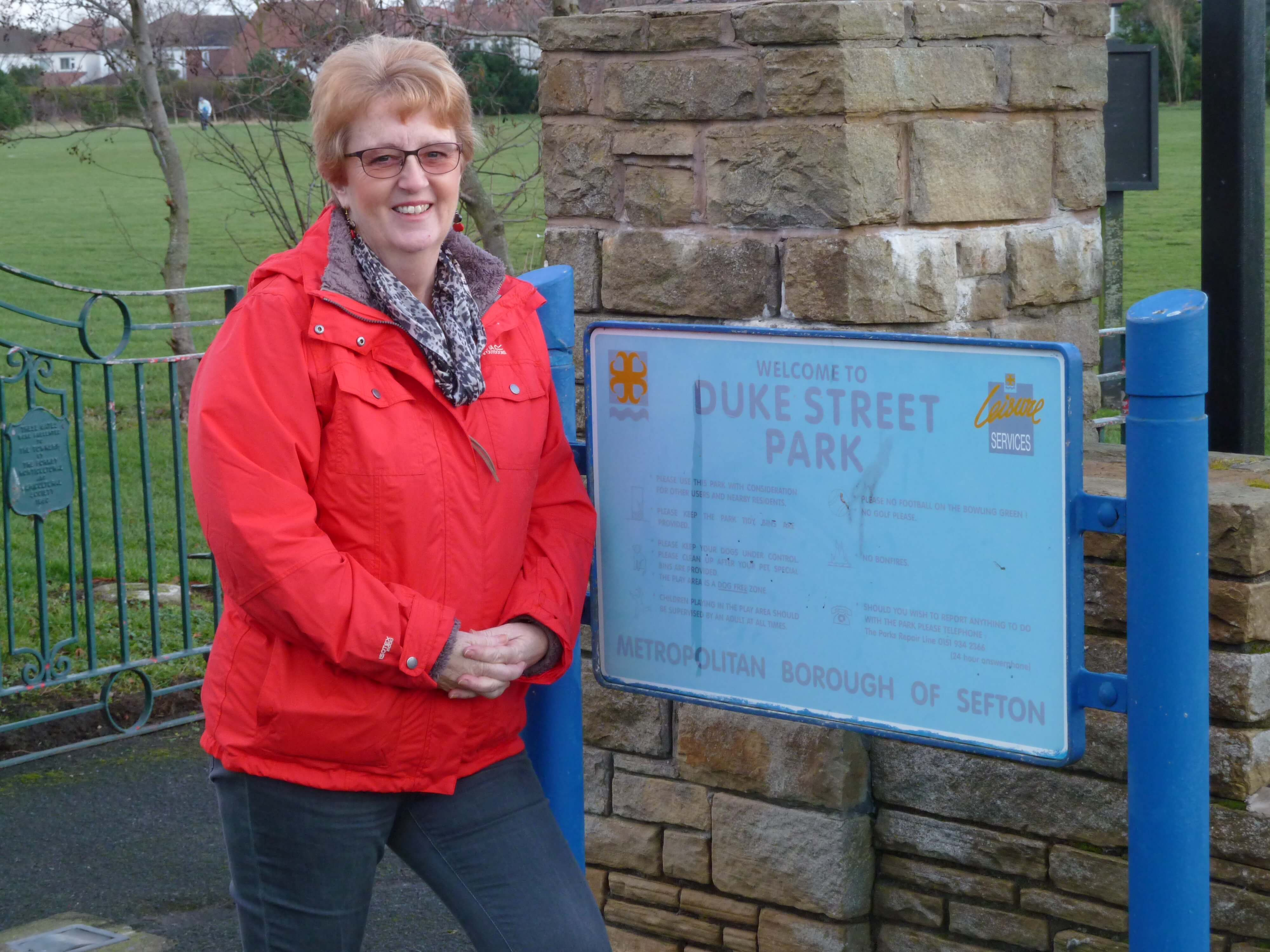 Formby Labour councillor Catie Page is urging people to have their say on future of Duke Street Park.
