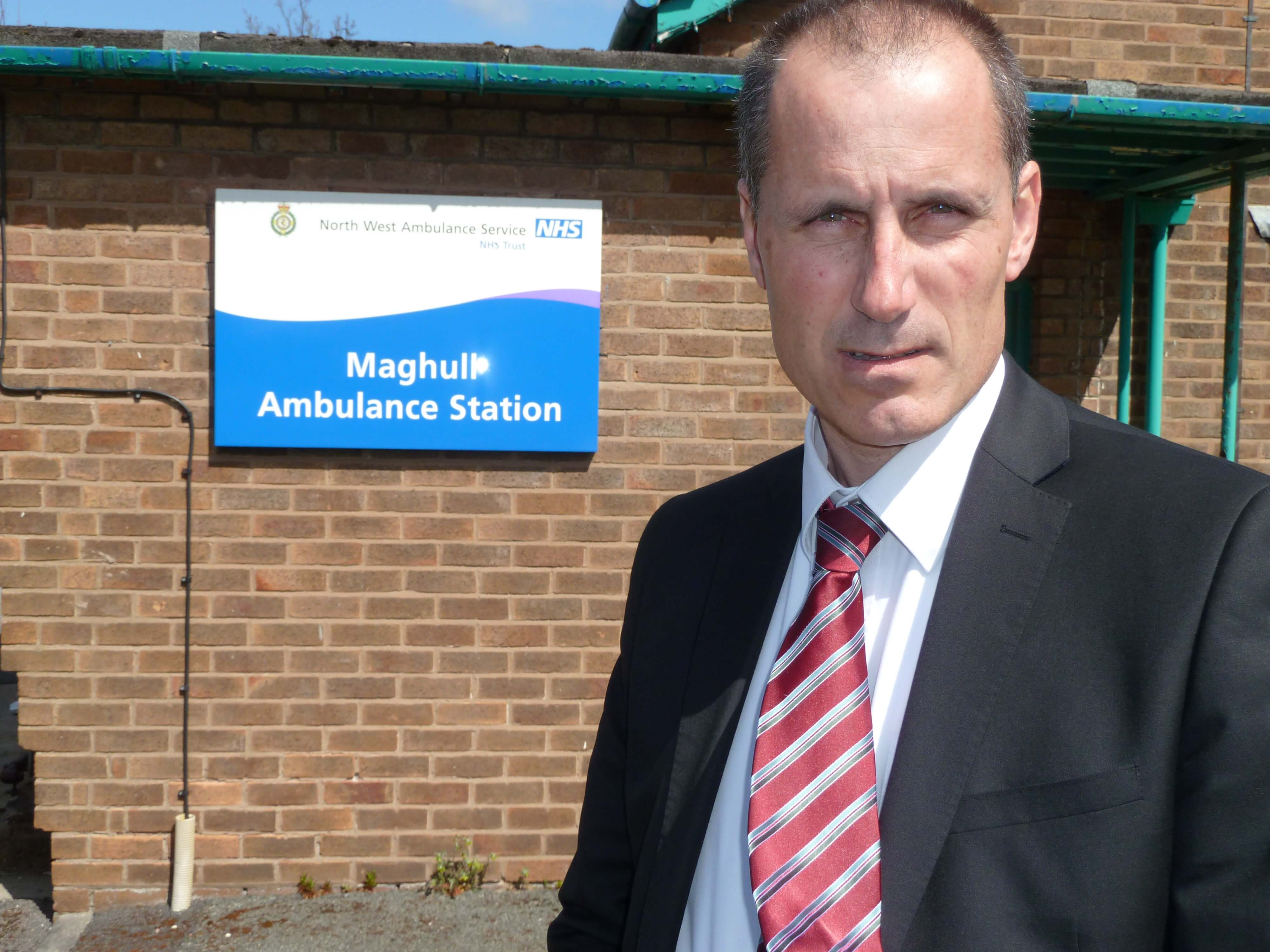 Sefton Central Labour MP Bill Esterson warns that the loss of Maghull Ambulance Station in Lydiate risks public safety.