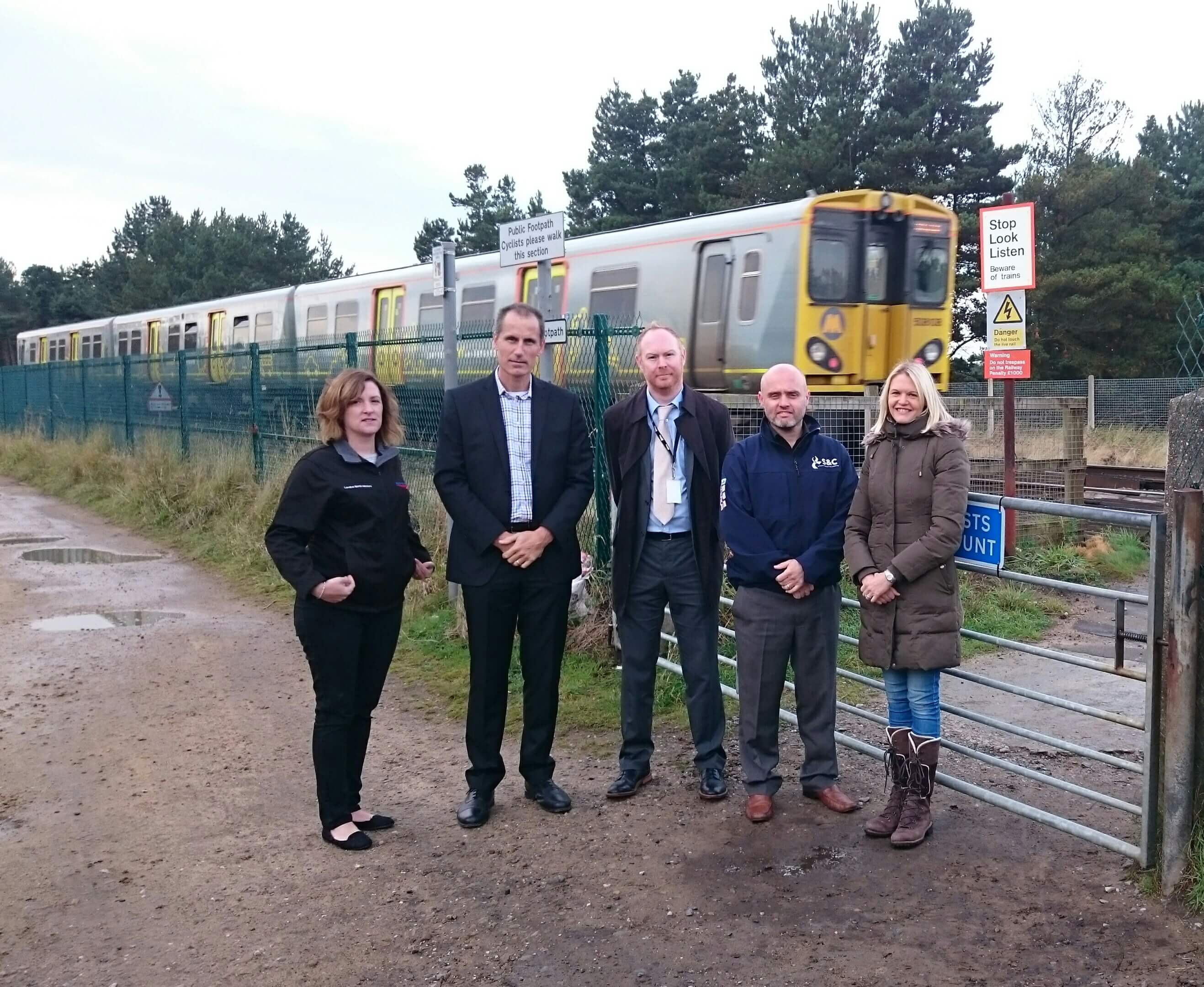 Sefton Central Labour MP Bill Esterson with Harington Ward Labour councillor Nina Killen during their meeting with Network Rail staff at Fishermans Path level crossing.