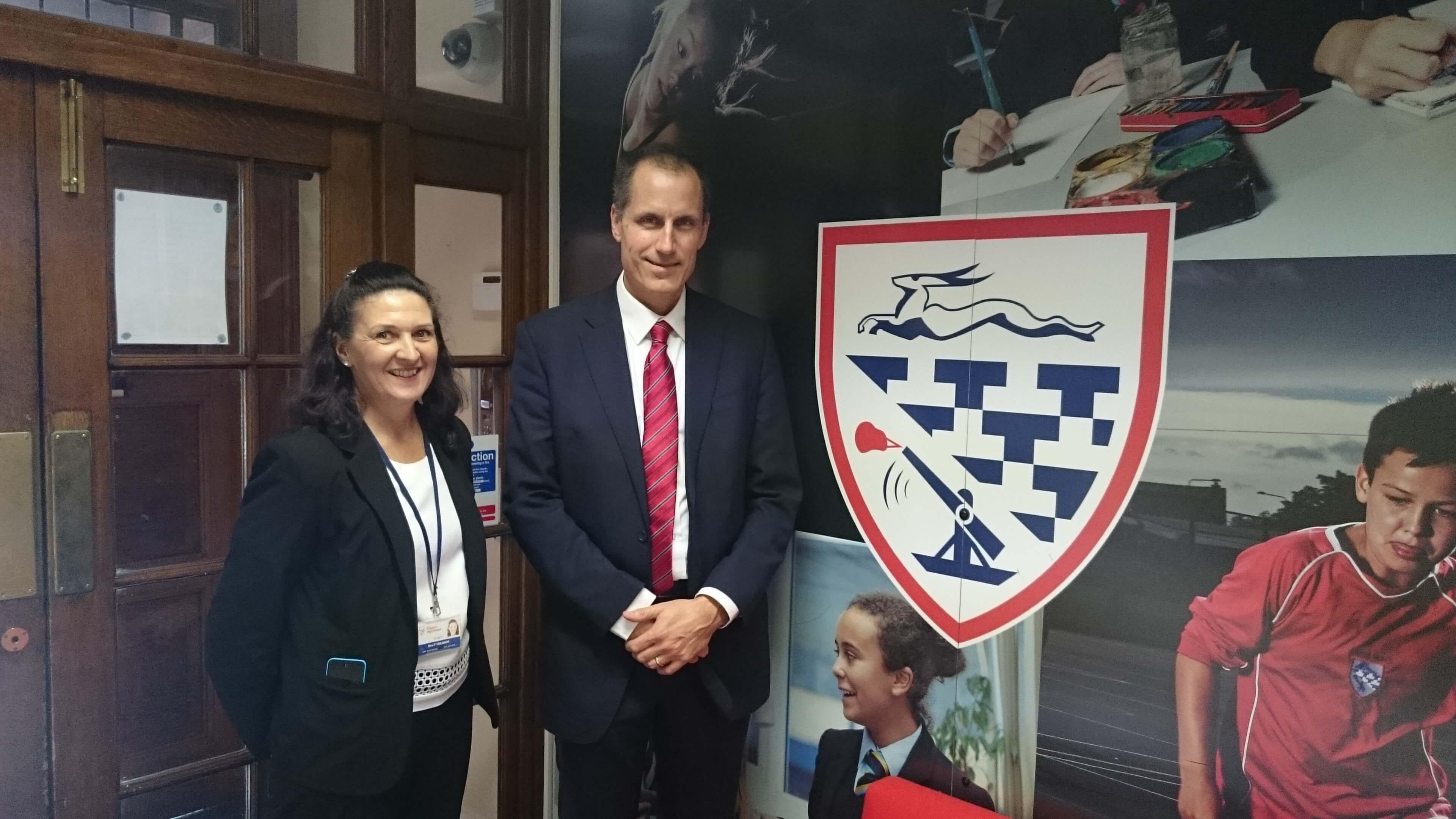 Sefton Central Labour MP Bill Esterson with Deyes High assistant headteacher Pauline Traenor.