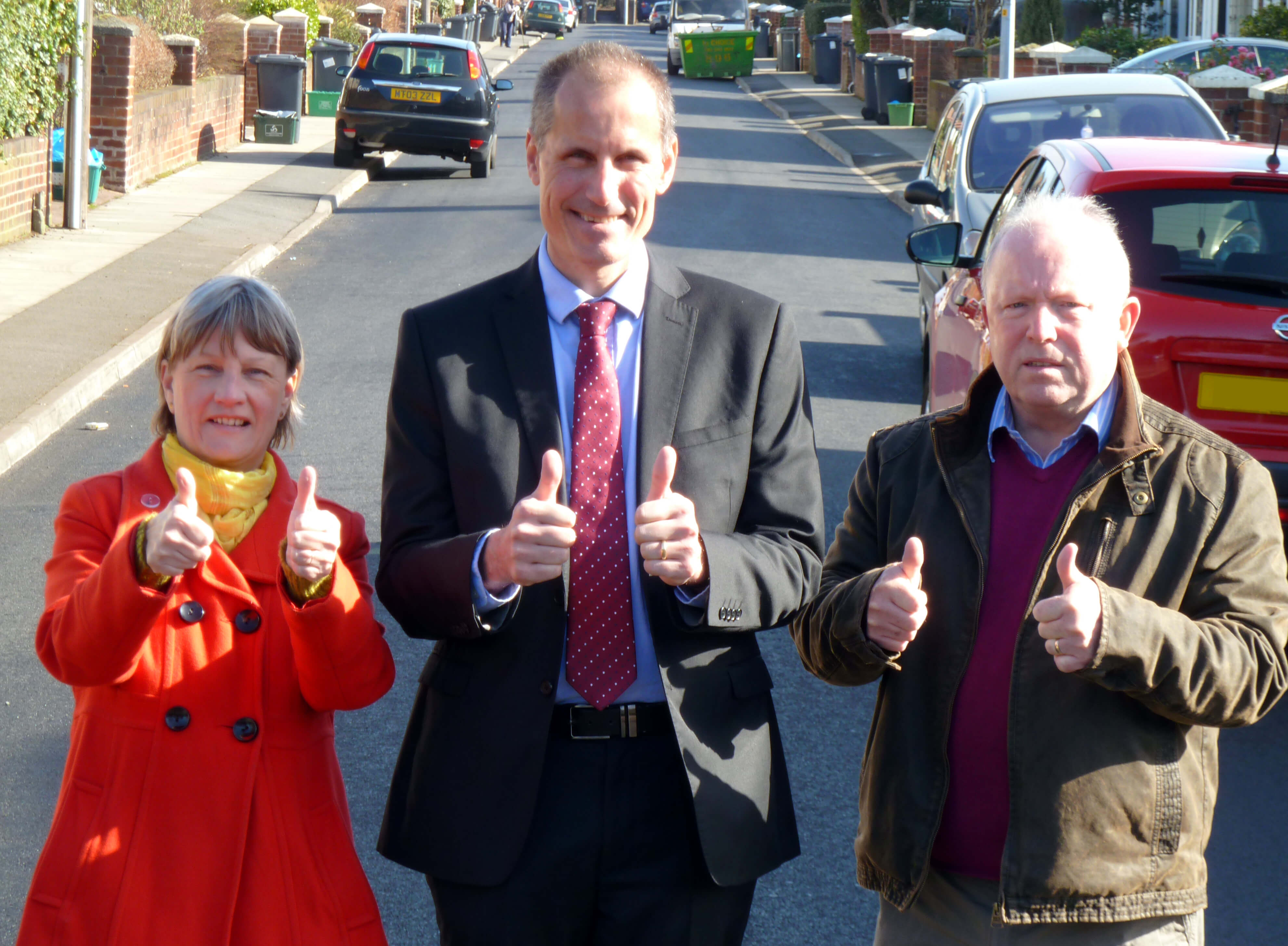 Maghull & Lydiate Labour Action Team's Cllr John Sayers, Cllr June Burns and MP Bill Esterson.