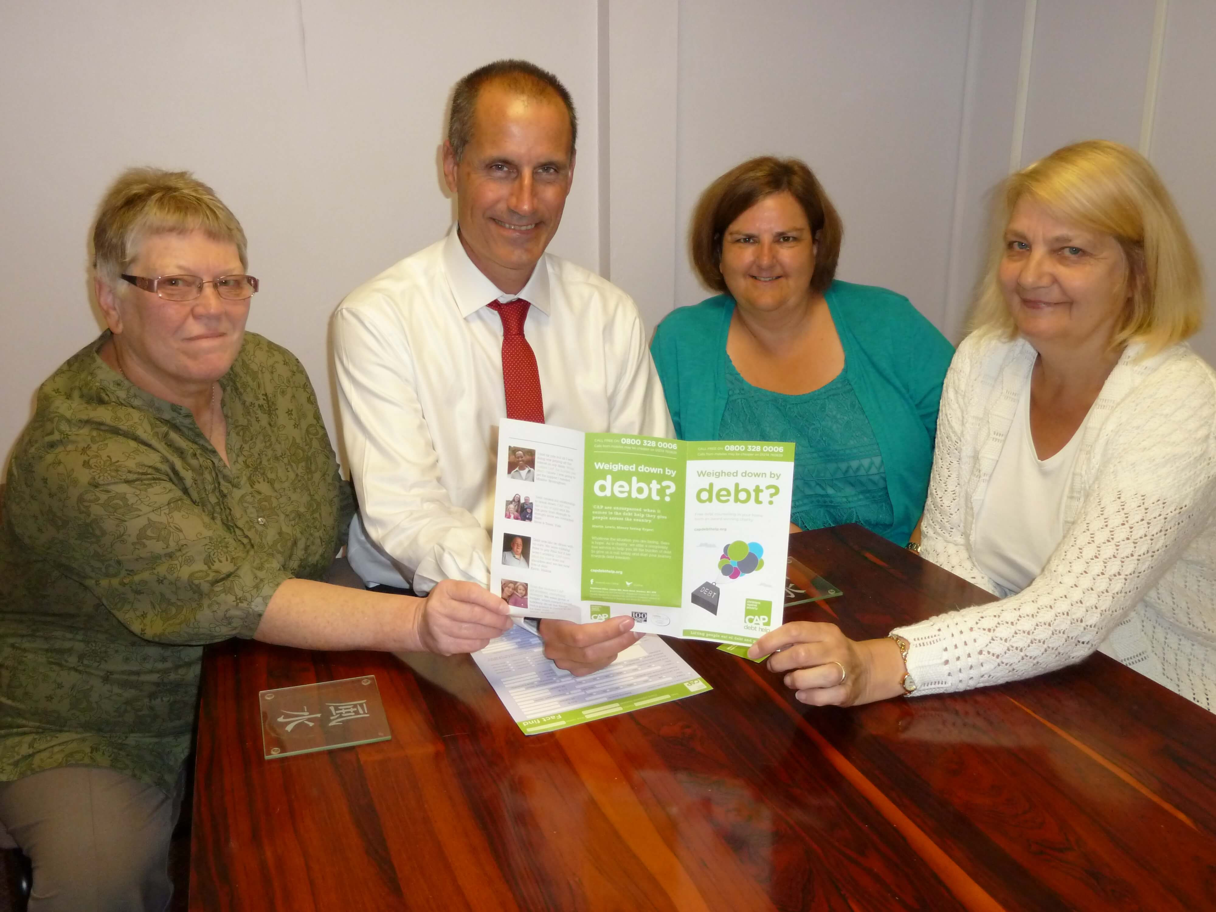 Sefton Central Labour's Bill Esterson talks about Christians Against Poverty's work in East Sefton with East Sefton counsellor Lynn Woods, Lynda Cooper who runs the CAP service in North Liverpool and South Sefton and debt coach Jean Beazley.