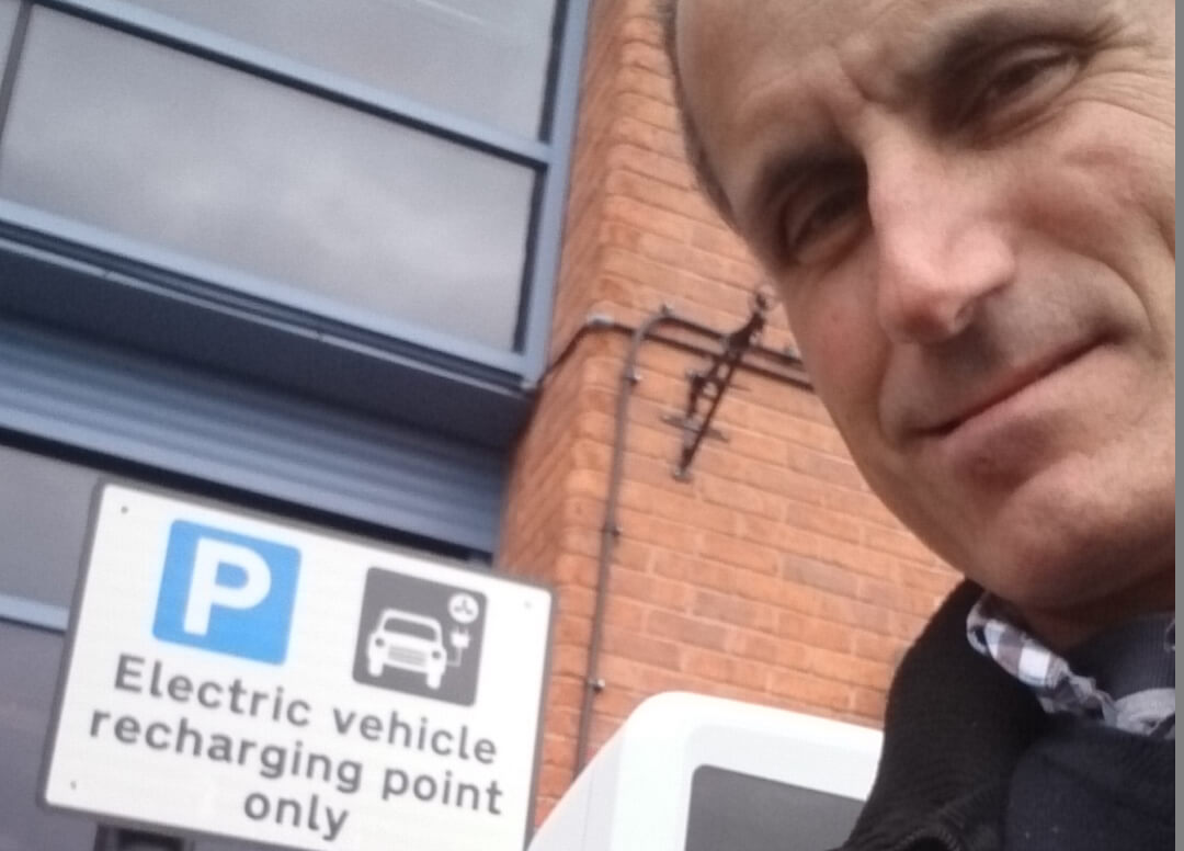 Labour's Bill Esterson has given the new charging point at Meadows Leisure Centre the thumbs up.