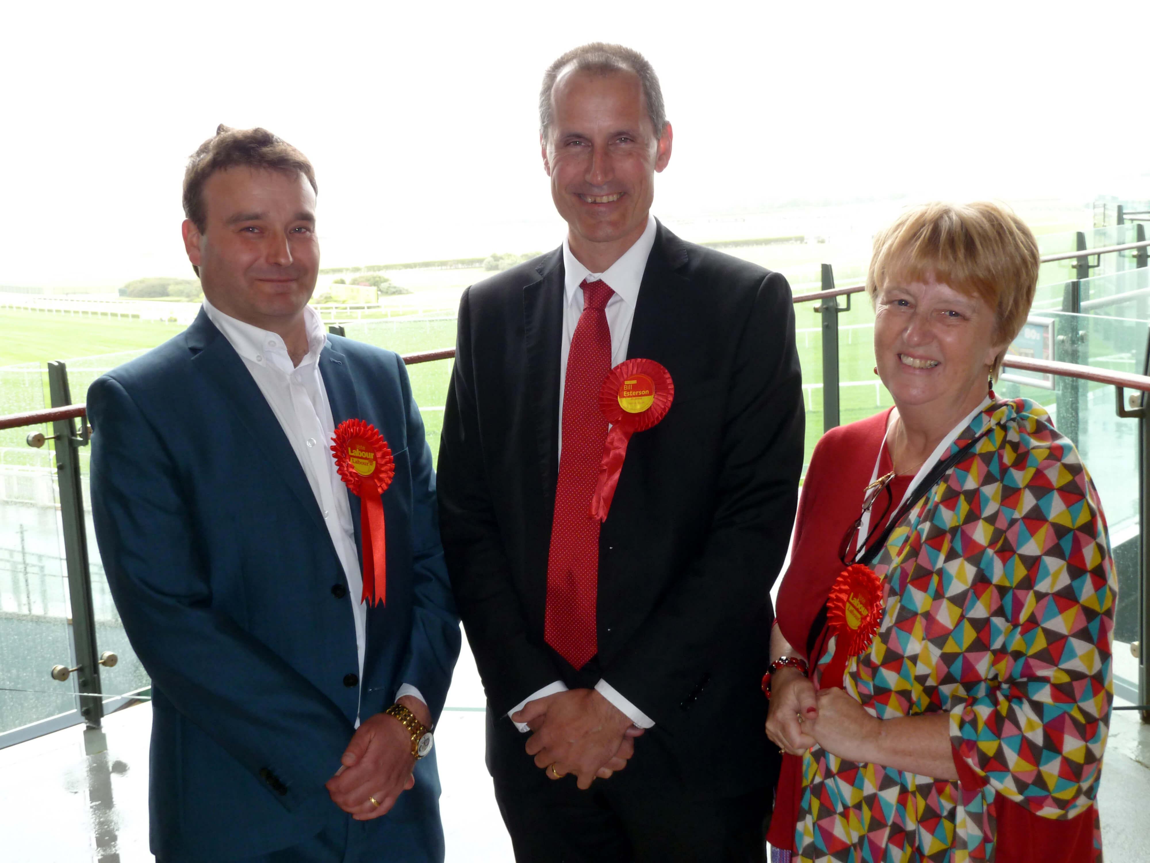 Ravenmeols Ward Labour councillors Tim Hale and Catie Page with Sefton Central Labour MP Bill Esterson.