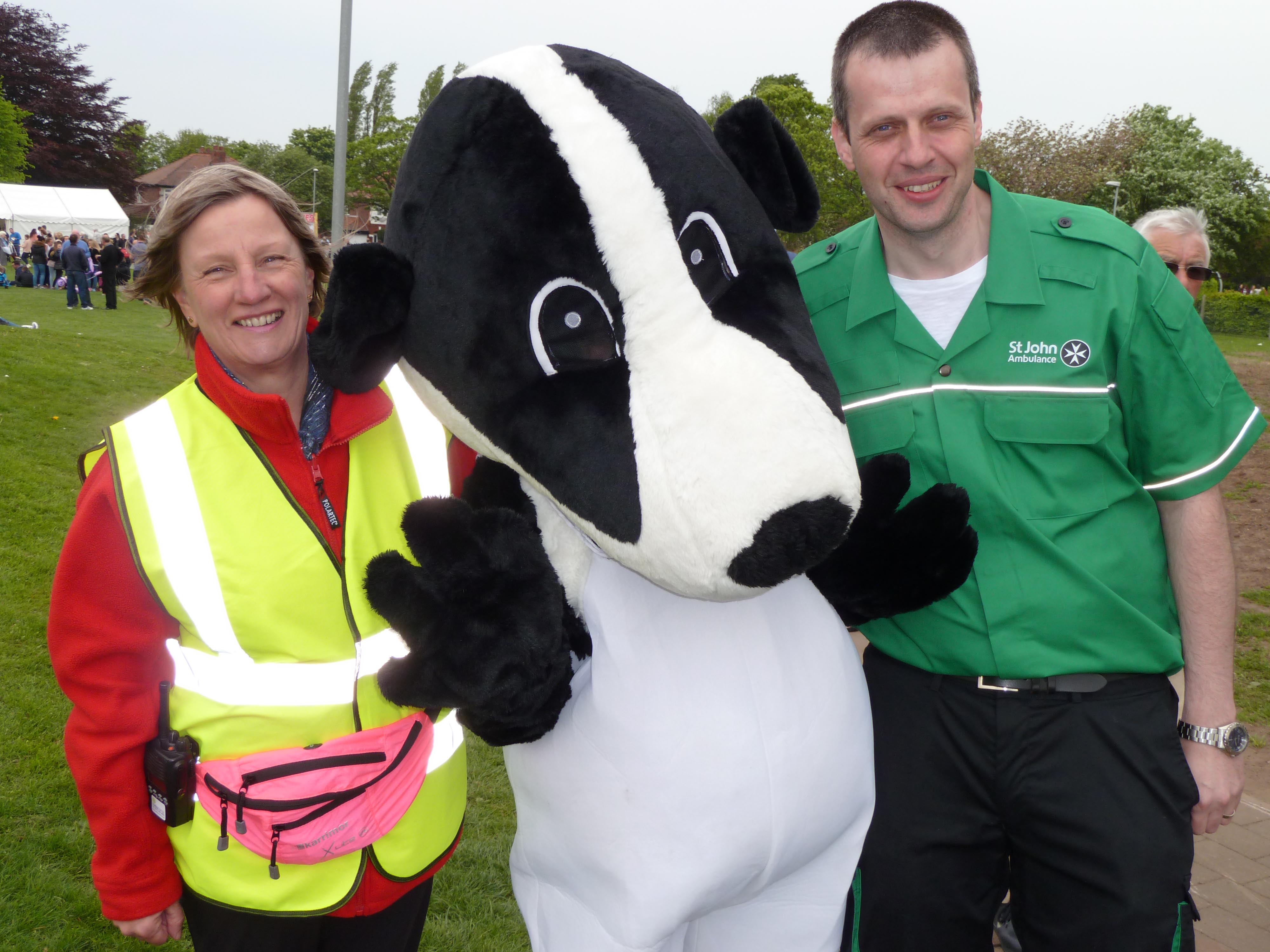 Maghull Labour councillor June Burns with St John Ambulance volunteers at last year's MaghullFest.