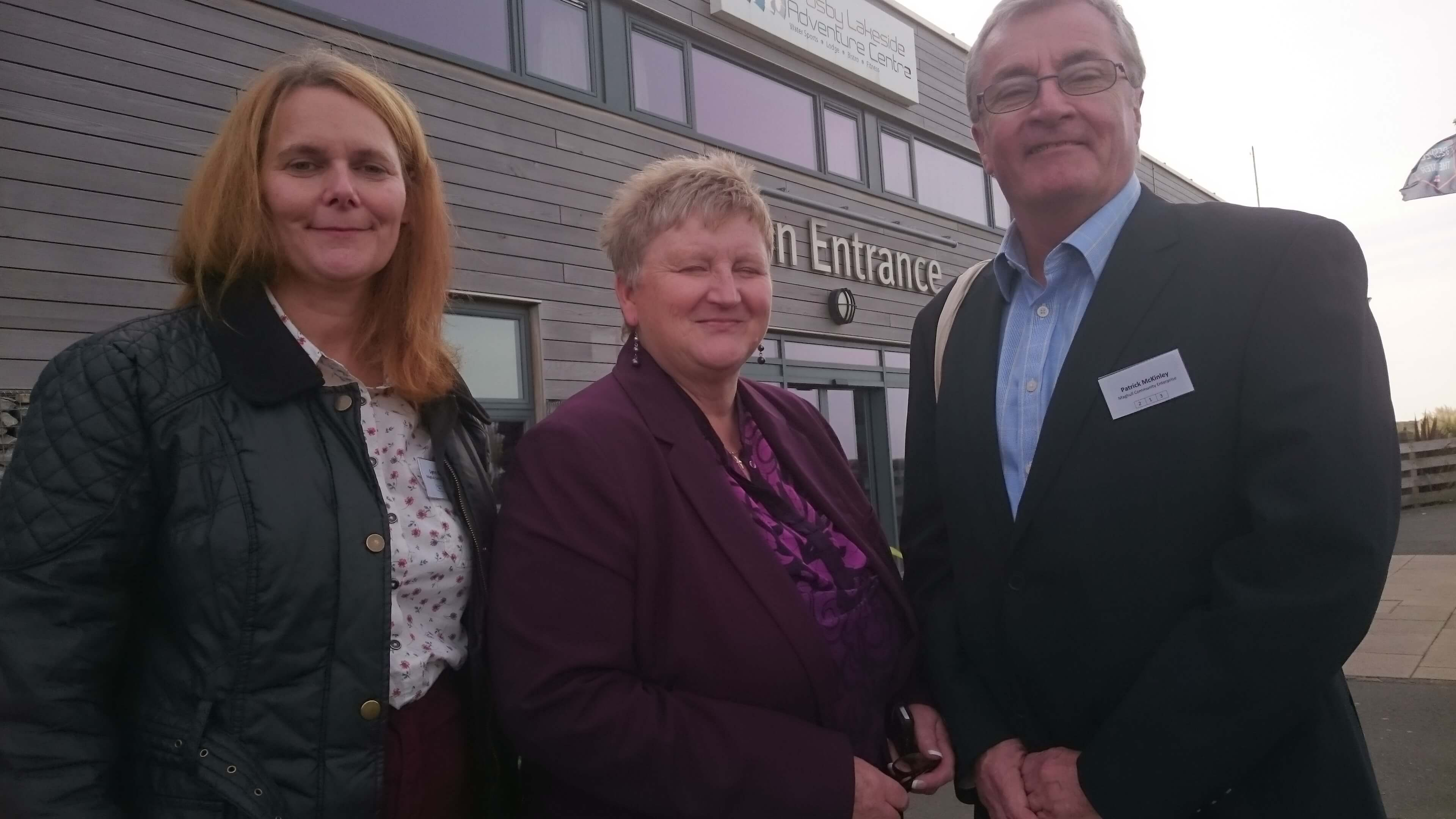 Maghull Community Enterprise co-founders Cllr Lynn Gatherer and Cllr Patrick McKinley with Sefton CVS chief executive Angela White.