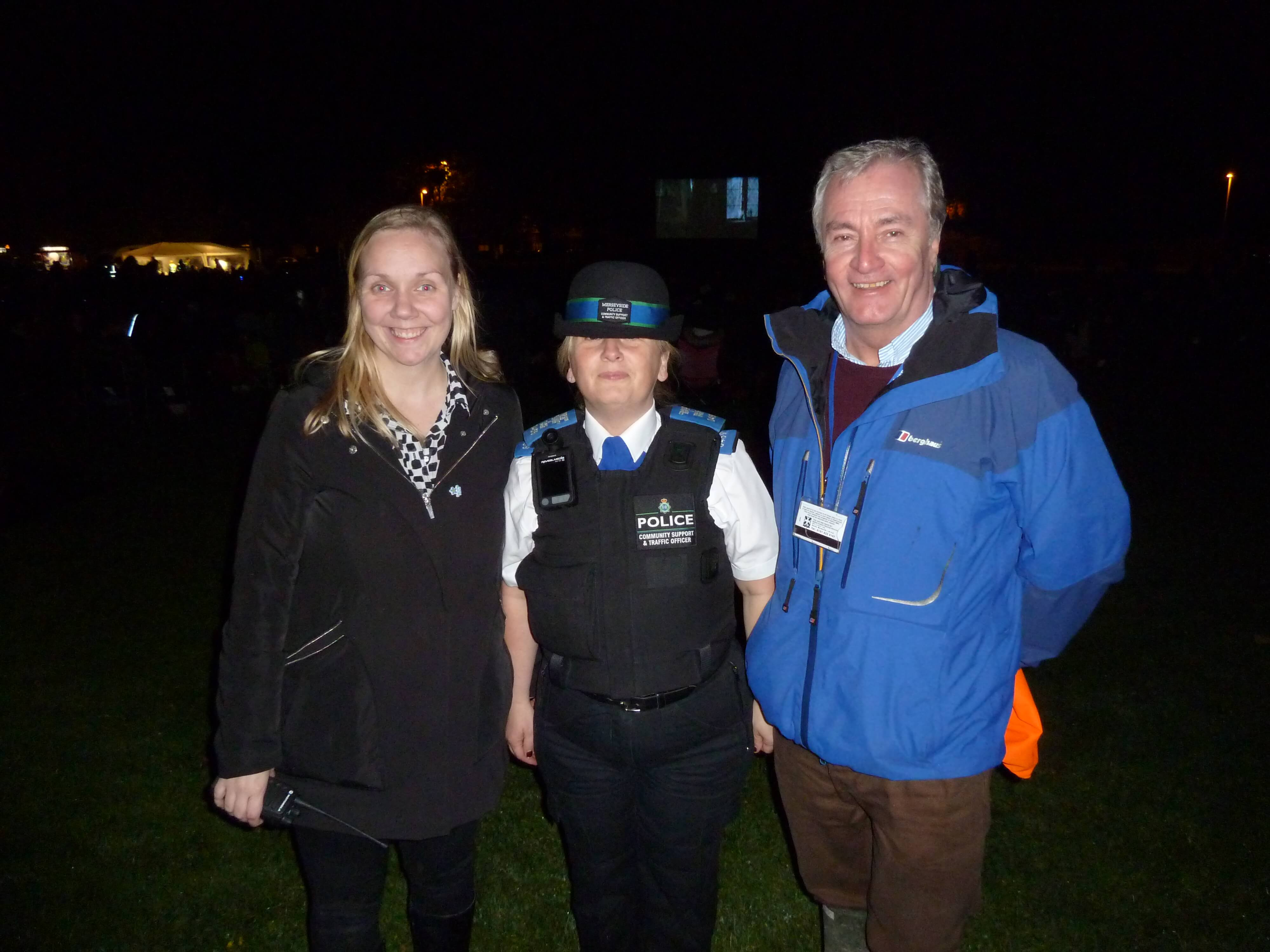 MCE's Diana Tuohy, PCSO Anne McIntyre and Cllr Patrick MCKinley