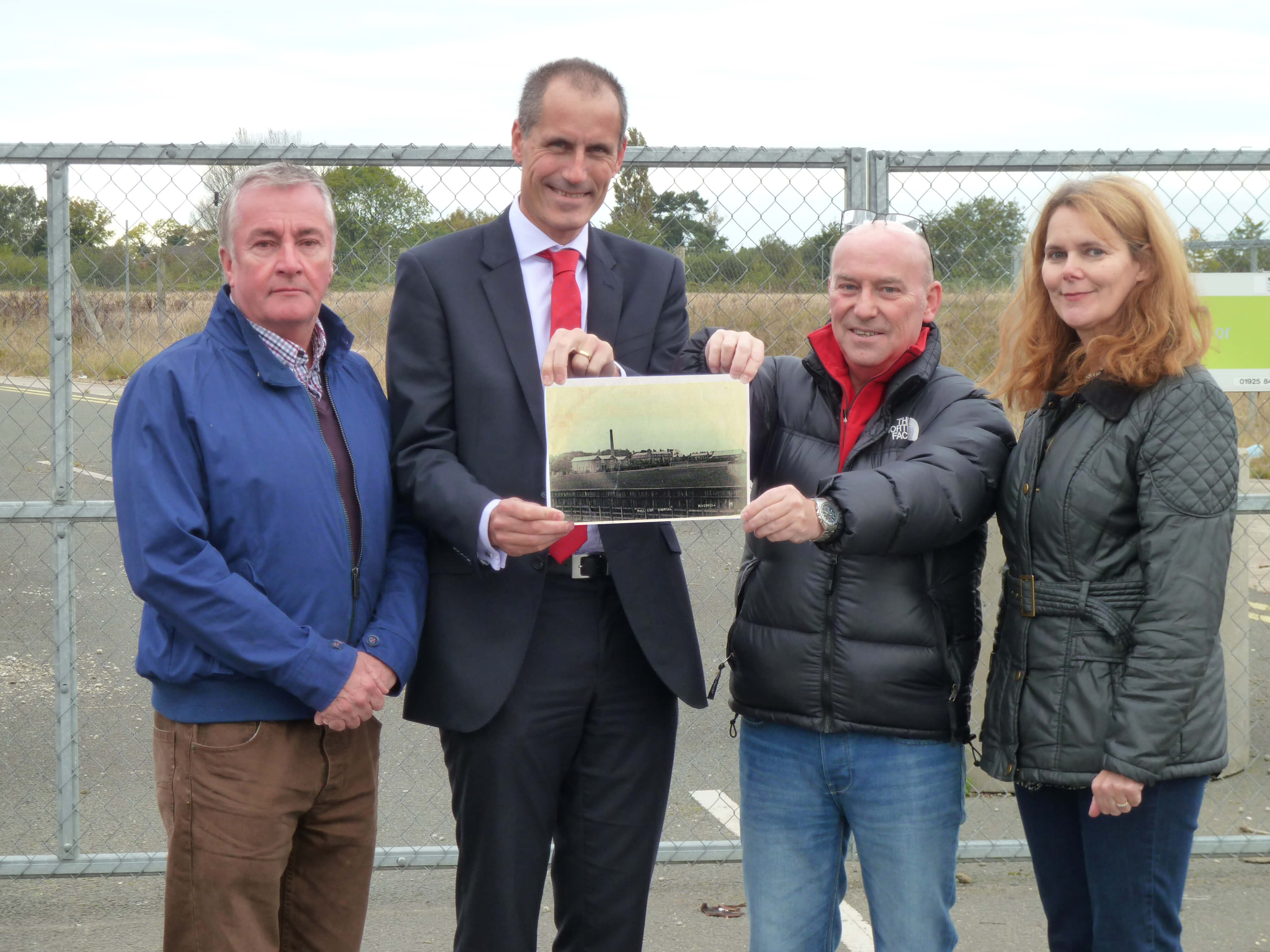 Former Moss Side Hospital nurse Ross Ferguson with Maghull Labour councillor Patrick McKinley and Lynn Gatherer and MP Bill Esterson.