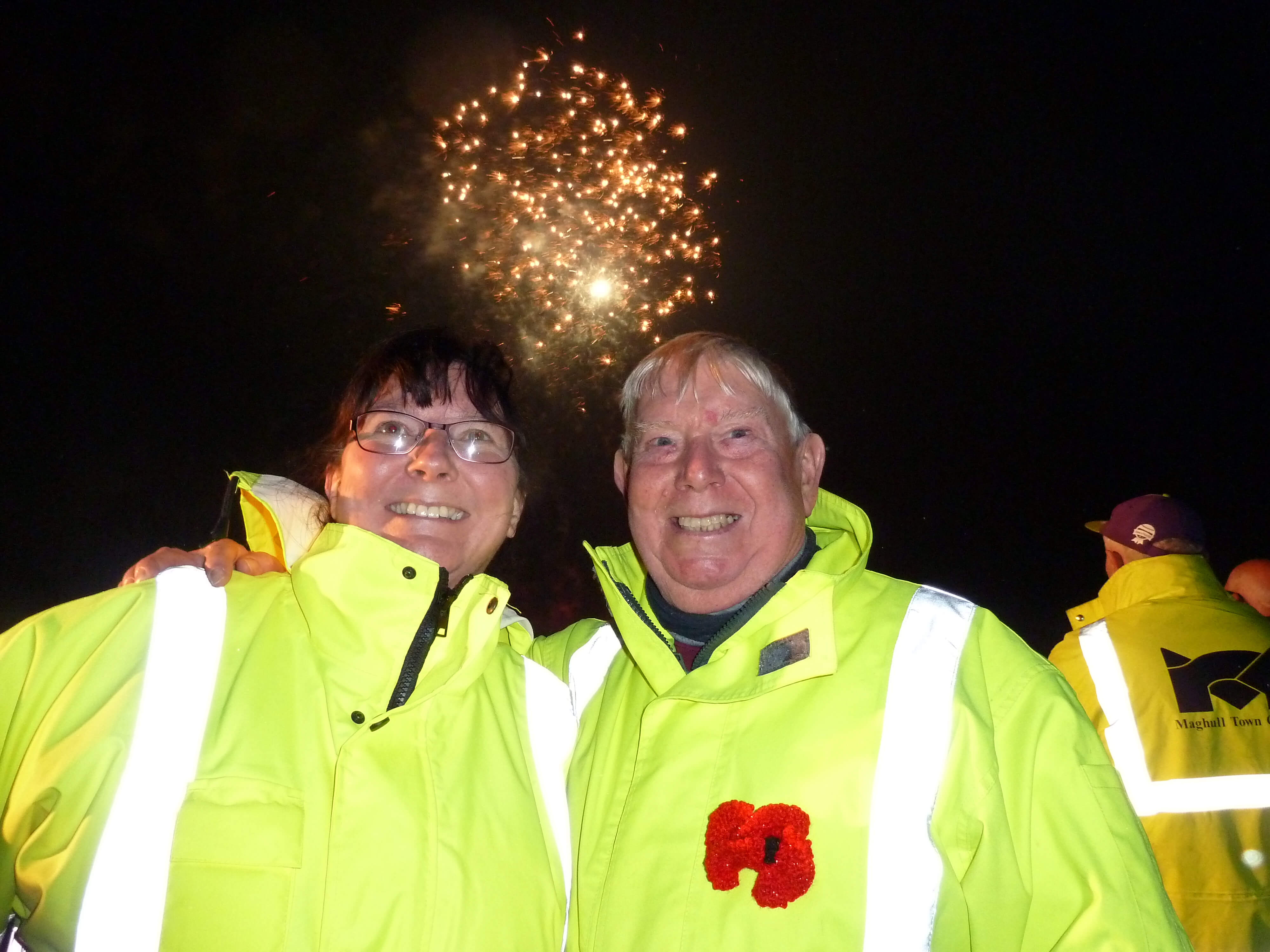 Maghull Town Council clerk Angela McIntyre and community volunteer Dave Hughes.
