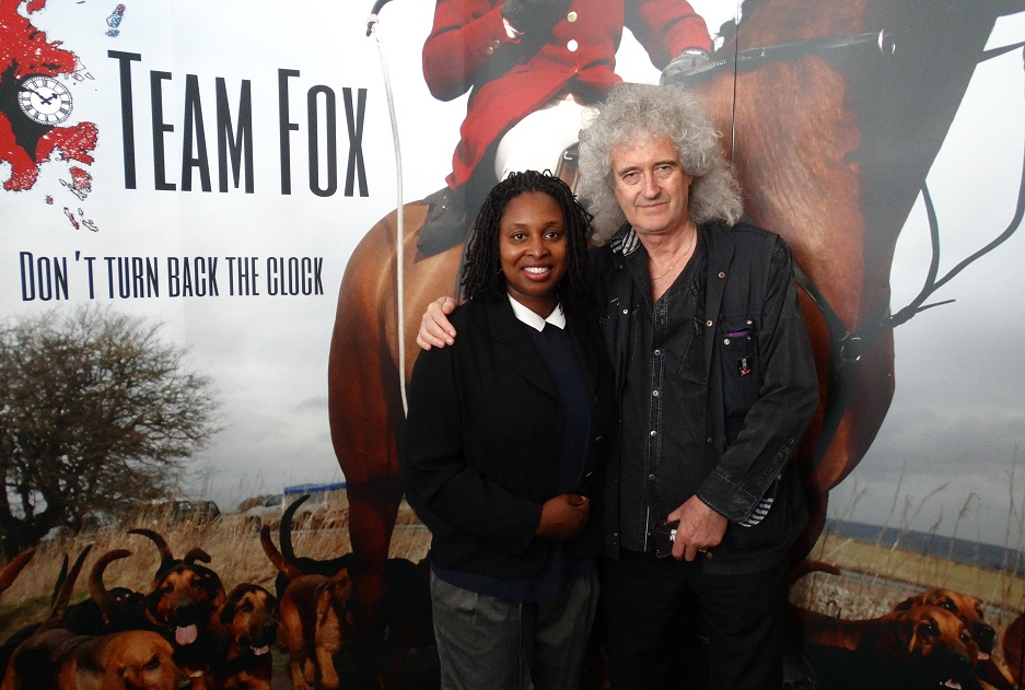 Dawn and Brian May team up to back the Hunting an