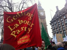 gedling labour party sign on the march