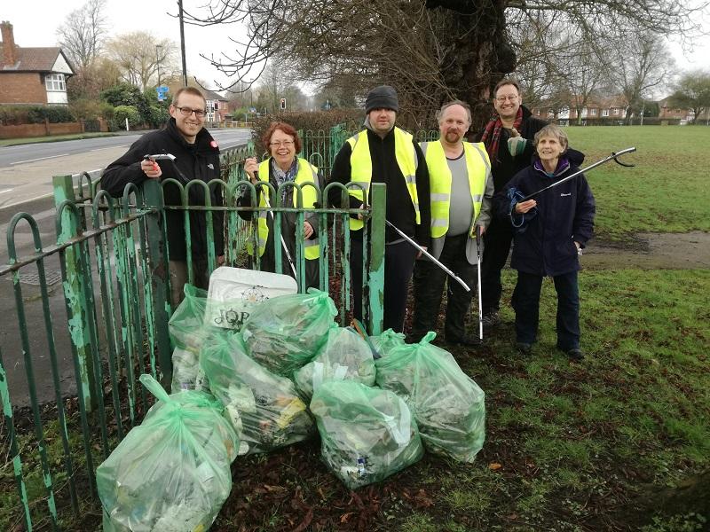 Volunteers clean up former Manor School playing fields