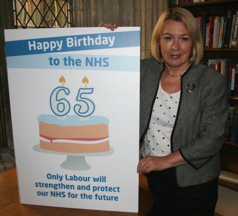 Barbara celebrates the NHS at 65