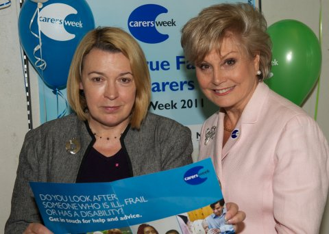 Barbara Keeley MP with Angela Rippon