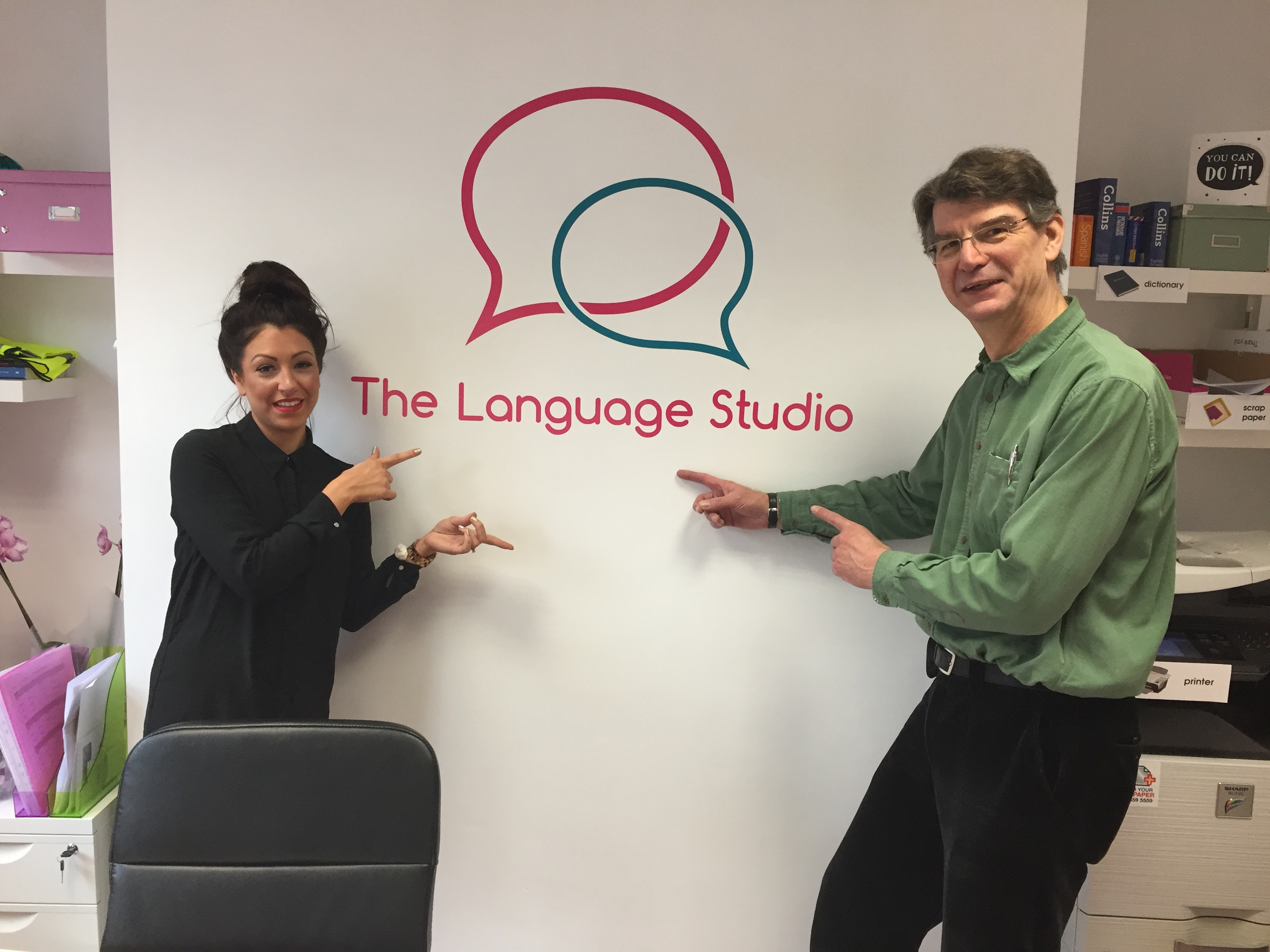 Rob Marris and Lorna Mitchell at the Language Studio
