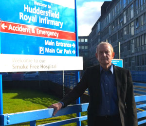 Barry Sheerman at Huddersfield Royal Infirmary