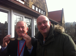 Barry Sheerman meeting parents and children at Berry Brow school in Huddersfield