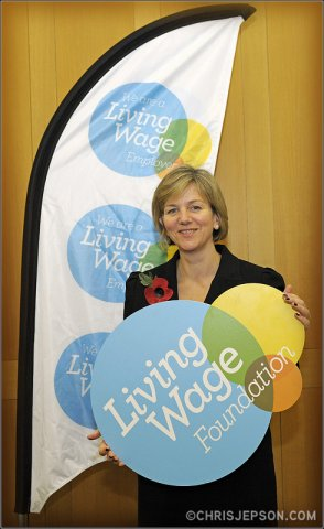 Lilian Greenwood marks Living Wage