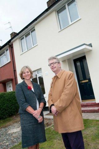 Lilian Greenwood MP with Cllr Alan Clark Portfolio Holder for En