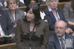 Bridget fighting for Sunderland in the HOC1
