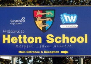 Hetton School sign