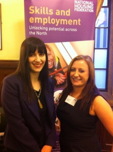 Bridget meets Ashleigh Hudson , an apprentice with Gentoo Group as part of National Apprenticeship week