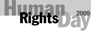 Human rights day 2009 logo