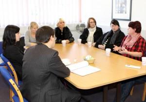Gareth Thomas, Bridget Phillipson, and City of Sunderland College Students