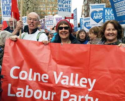 Colne Valley Labour Party Members take part in the massive demonstration in London for our NHS