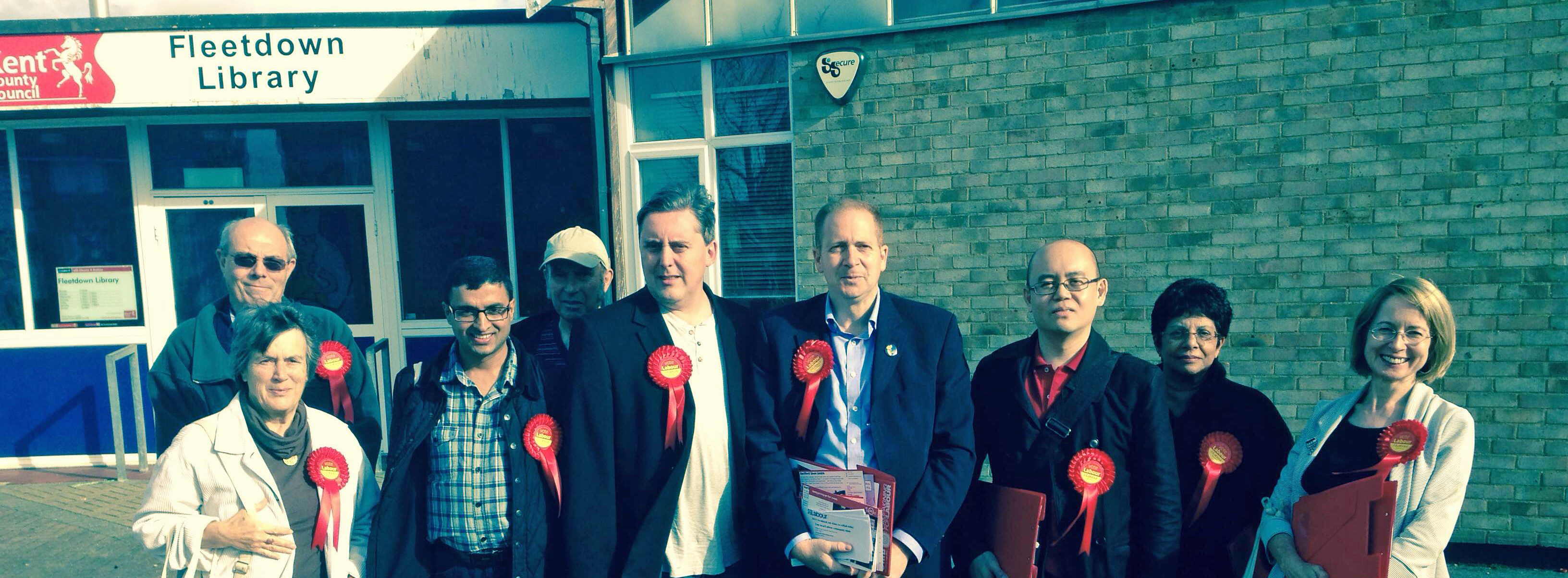 Mark with Simon Thomson and campaign team