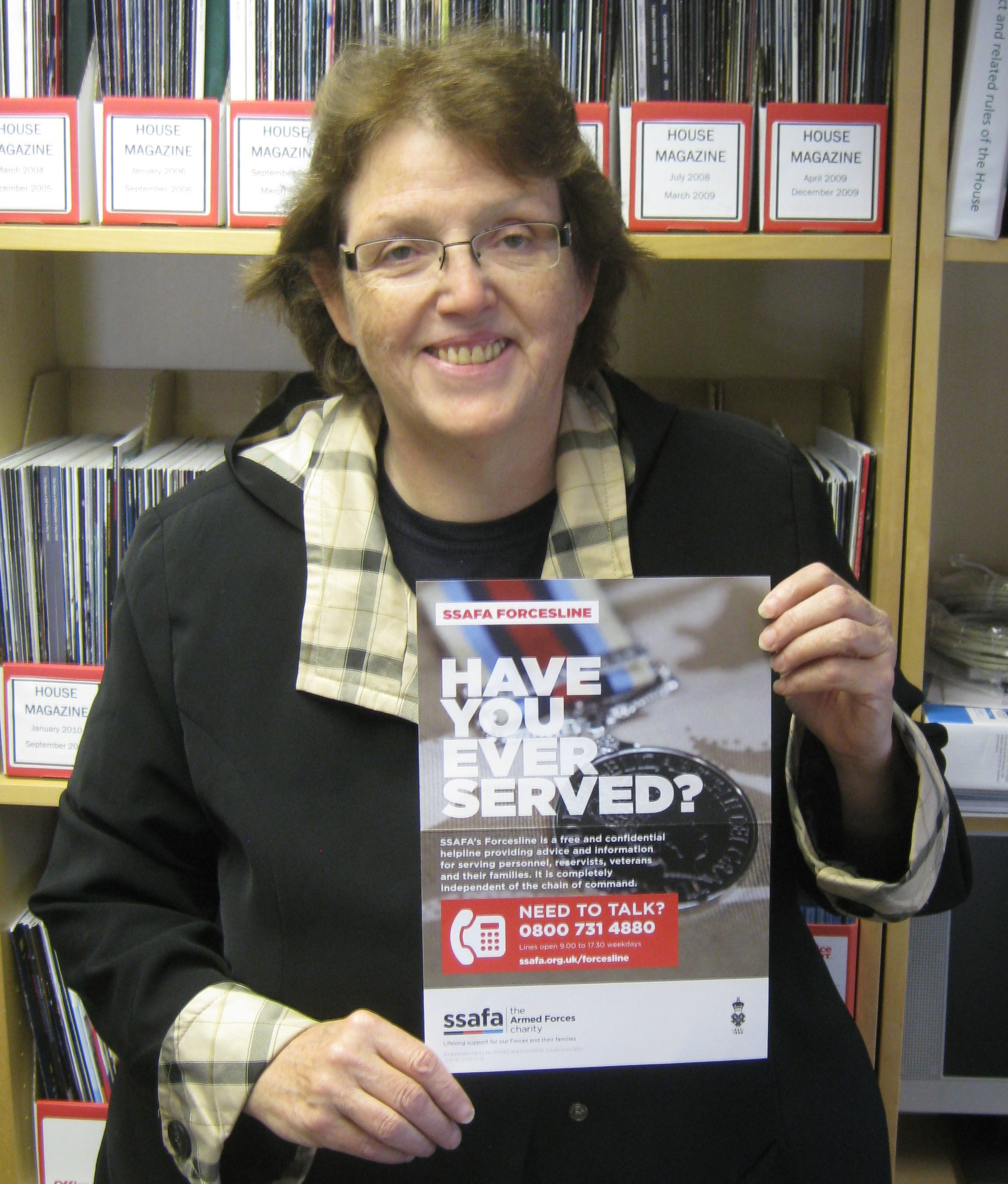 Rosie_Cooper_MP_with_SSAFA_poster.JPG