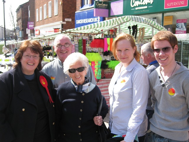 Ormskirk with campaign crew
