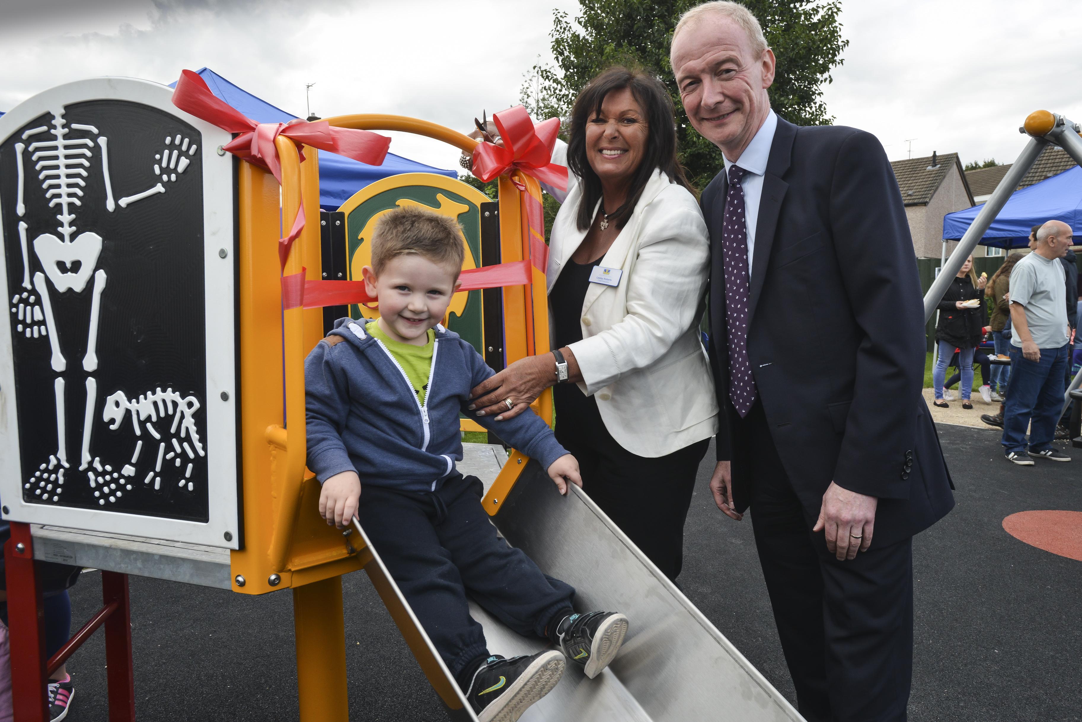 Pat at the new gardens, alongside Wolverhampton Homes Chief Executive Lesley Roberts.