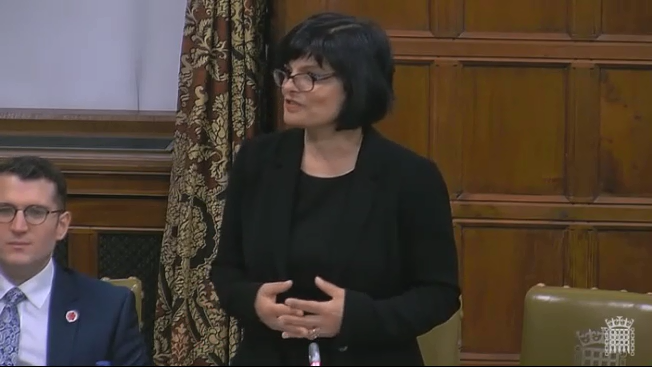 Thangam speaking in Westminster Hall
