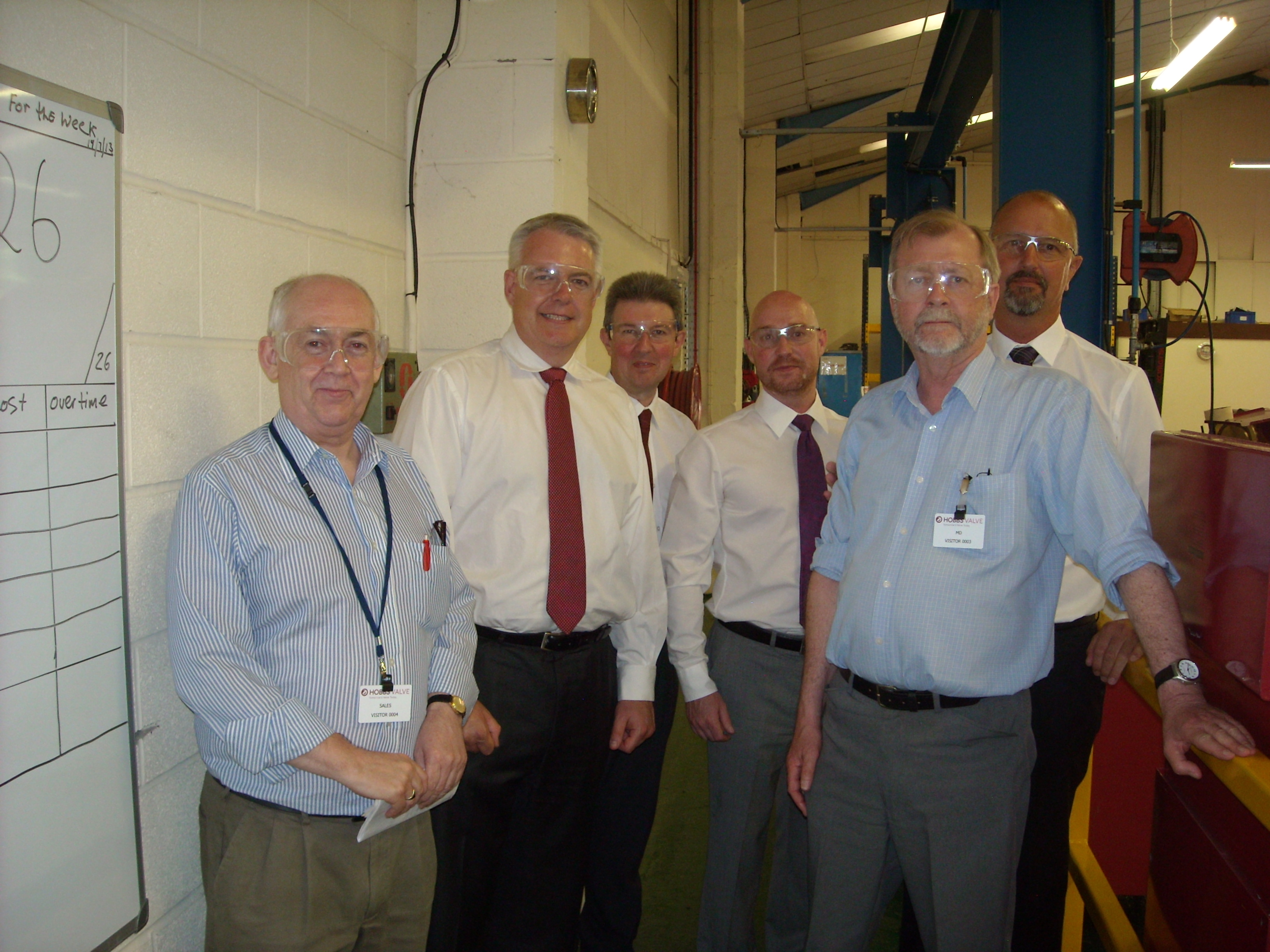 Carwyn Jones visit to Hobbs Valve