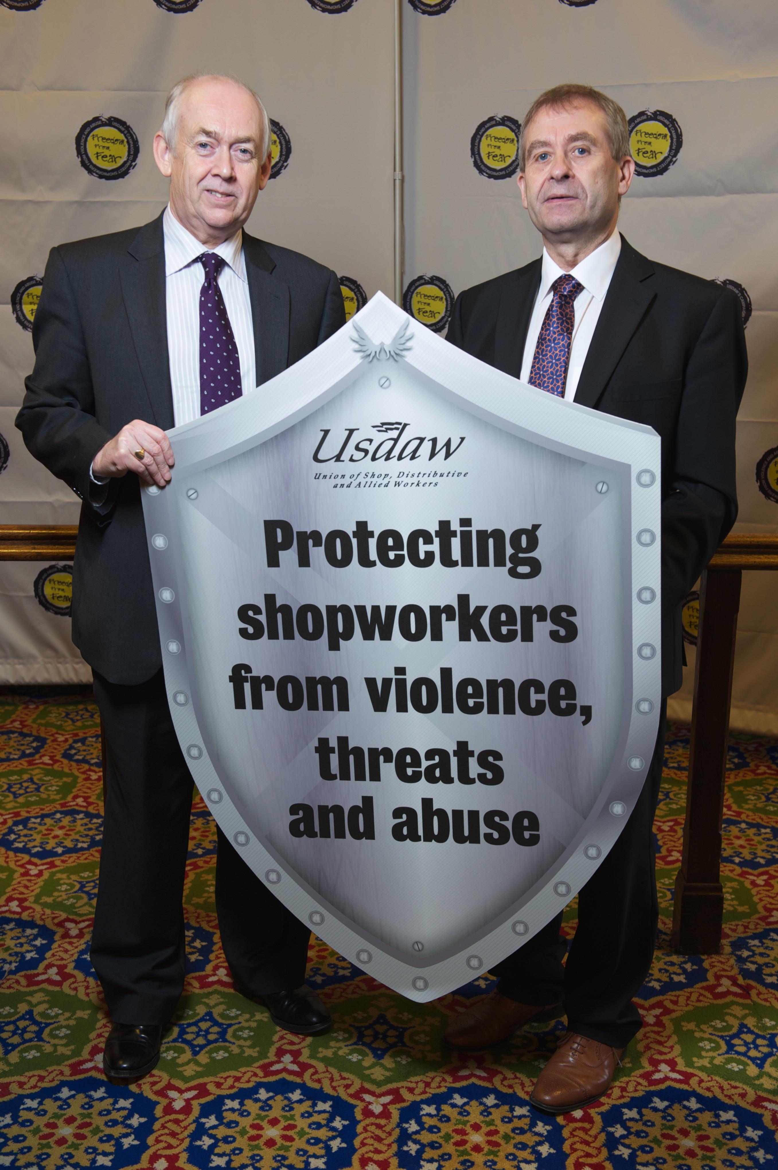 Wayne David backs Usdaw's Freedom From Fear Campaign.jpg