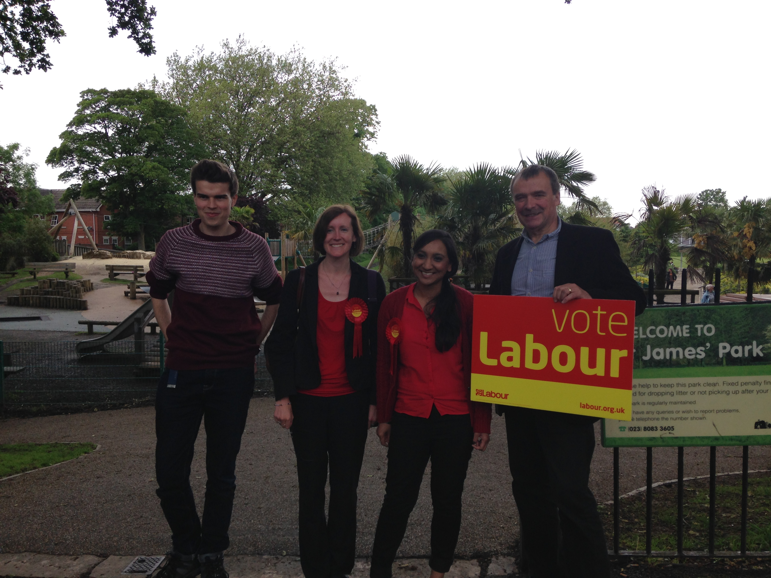 Taking part in some last min doorknocking on Thursday