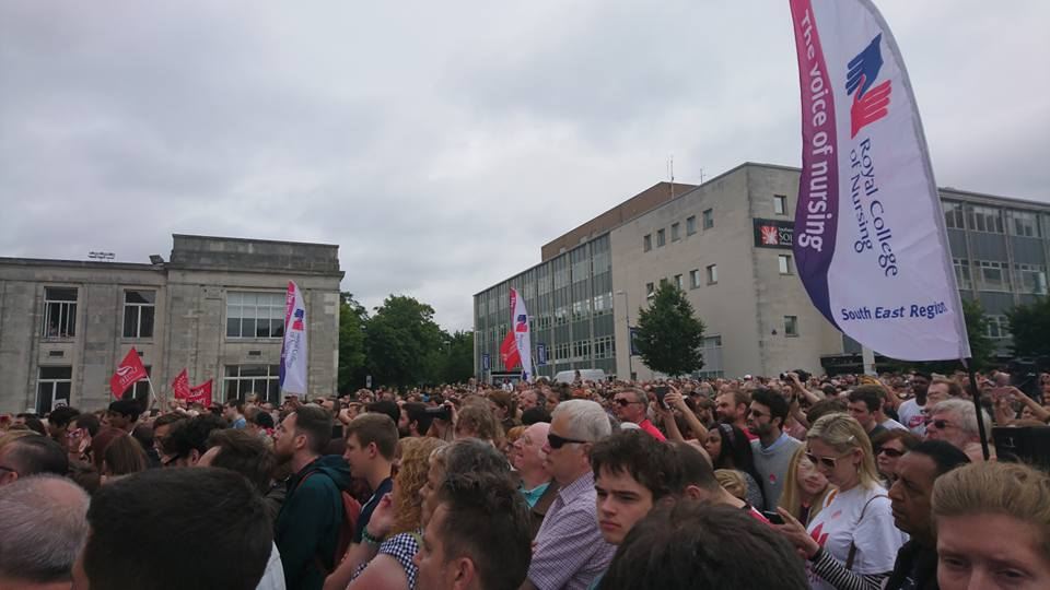 Crowd at Jeremy Corbyn Southampton Rally