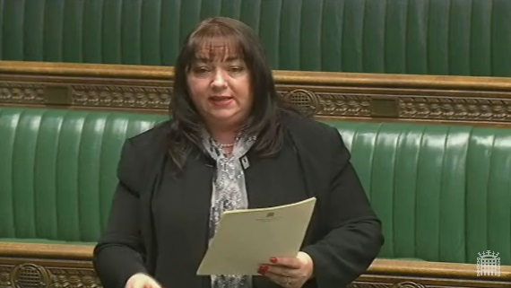Sharon speaking in the Commons