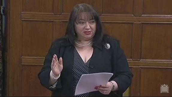 Sharon speaking in the debate